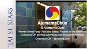 Ajumama Shooting time:  Tuesday Oct. 8, 4 p.m. Location:  Zauber Brewing Co., 909 W. Fifth Ave.  Sample dish:  Bulgogi Cheesesteak - marinated beef shaved thin and topped with sauteed onions, shishito peppers and a Velveeta-and-kimchi cheese sauce on a hoagie roll. Twitter account
