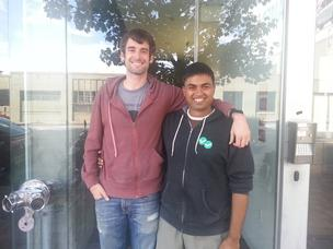 Bhavin Parikh (right) is the founder and CEO of Magoosh. Aaron Schwartz (left) is the founder and CEO of Modify Industries.