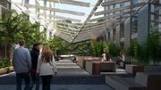 The atrium at 270 Brannan