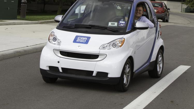 Car2go vehicles arrived in Columbus this year.
