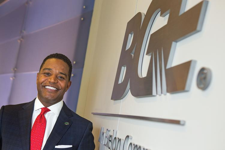 Calvin Butler Jr., a senior executive with BGE, says surveys show employees value a company that gives back to the community.