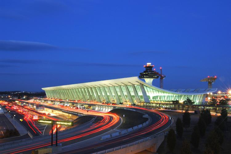Dulles airport's cargo load fell last year to 590.7 million pounds, its lowest since 1993.
