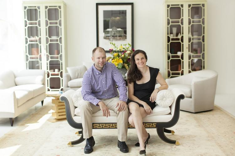 Chad Groves and Katie Groves, husband-and-wife owners of Studio 882 in Chadds Ford, Pa.