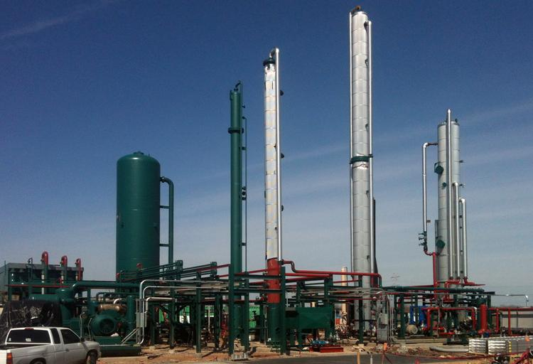 WCA Waste's new waste-to-energy conversion facility in Fort Bend County was constructed during the last year.