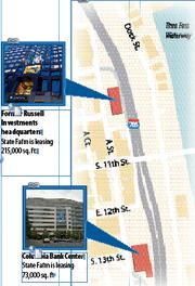 State Farm's new sites in downtown Tacoma.