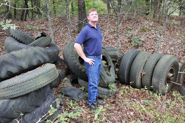 Tucker Beck with Crye-Leike Commercial spent seven years trying to sell about 9 acres of land in a deal that was laced with 40,000 pounds of tires, family squabbles and legal snags.