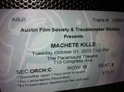 "The Austin Film Society and Troublemaker Studios sponsored the premiere of ""Machete Kills."""