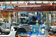 Corvettes in multiple stages of assembly.