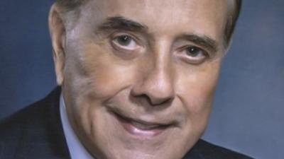 Former U.S. Sen. Bob Dole returned to his hometown of Russell, Kan., to dedicate the new mobile VA unit.
