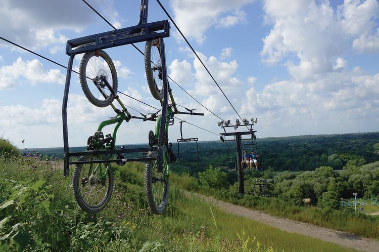 The Rock Sports Complex is seeking a Greendale permit to resume ski hill operations this year. The hill has been used as a mountain biking course through the summer.