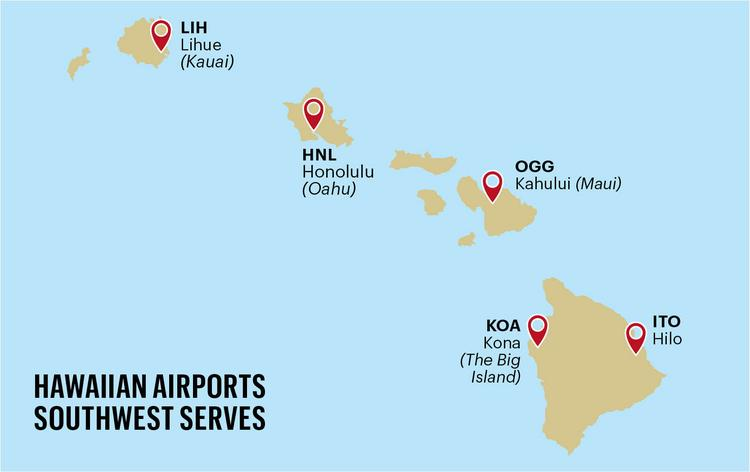Southwest Airlines launches new Hawaii routes; flights start at $99 on kauai airport, kauai ahupua a map, kauai kalalau trail map, kauai mall map, kauai travel map, kauai street map, kauai beach map, kauai map of attractions, kauai park map, kauai driving map, kauai cartoon map, kauai bike path map, kauai area code, kauai restaurant map, kauai valley s canyons map, kauai railroad map, kilauea kauai map, kauai classifieds, waimea kauai map, kauai bus schedule,