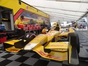 The IndyCar of 2012 IZOD IndyCar series champion Ryan Hunter-Reay, who finished this year's Houston doubleheader 20th and 21st, respectively.