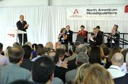 Areva opened its new U.S. headquarters in Charlotte on Thursday.