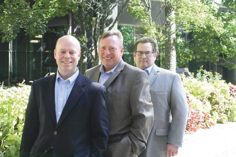 Smith Bender Marketing execs are (from left): Phil Bauer , director of client services; Steve Nitzel, director of sales; and Terry Smith, president and director of creative services.