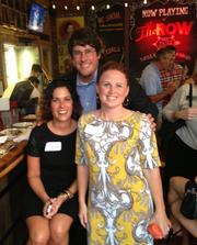 Crisp Communications LLC hosted its first monthly professional mixer and networking happy hour at the newly opened The Row in Midtown on Sept. 18.   Erin Koshut, the firm's vice president of client services and special events, right, talks shop with Toby Compton, executive director of the Metro Nashville Sports Authority, and Jennifer Pfeiffer, special assistant to the Tennessee commissioner of children's services.