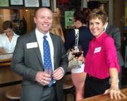 From left: Chris Burger, vice president of advocacy and public affairs and Meg Crisp, vice president of administration.