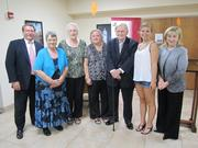 From left: Bill Sinclair, Catholic Charities of TN CEO; Connie Ransom, Roberta Steinmetz, Yvette Sebelist, Sen. Douglas Henry, Brennan Frazier, and Chris Donnelly. Not pictured: Shandy Husmann and Roberta Burke.