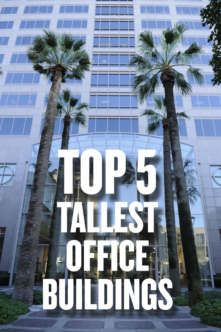 If the buildings on this week's list of the area's tallest office buildings stood end-to-end they would reach 1.4 miles into the sky. A slideshow lists the top 5.