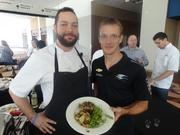 Haven and Cove chef Gaston with Bourdais
