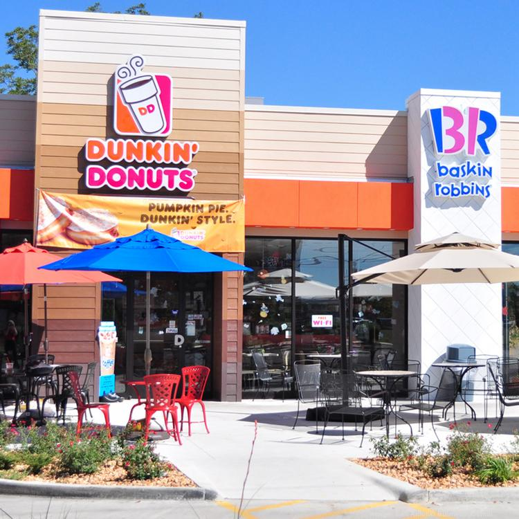 The new Walzem Road Dunkin' Donuts in the city of Windcrest also features an adjacent Baskin Robbins outlet.