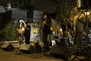 With Lindsay Nova fire hooping as accompaniment, the Spike Drivers played through a set outside the Dublin Village Tavern. The local band will be at the Woodlands Tavern on Halloween night if you want to check them out.