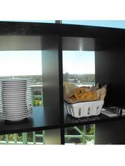 Chocolate-chip cookies with a view in the Hyatt's 15th-floor Capitol View Ballroom.