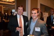 Tim Grandison, left, from No. 43 Sevatec Inc., with Dan Dziuba from Spectrumcareers.