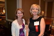 Cheryl Dickison, left, from R2integrated, with Susan Weber from No. 25 Walker & Dunlop Inc.