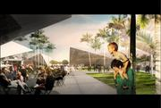 Buildings will have overhangs that will allow for shaded areas and make it possible for indoor events to spill out into the public areas.