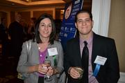 Jill Friedrich, left, from EagleBank, No. 50 on the list, and Michael LaCorte from Cherry Bekaert LLP.