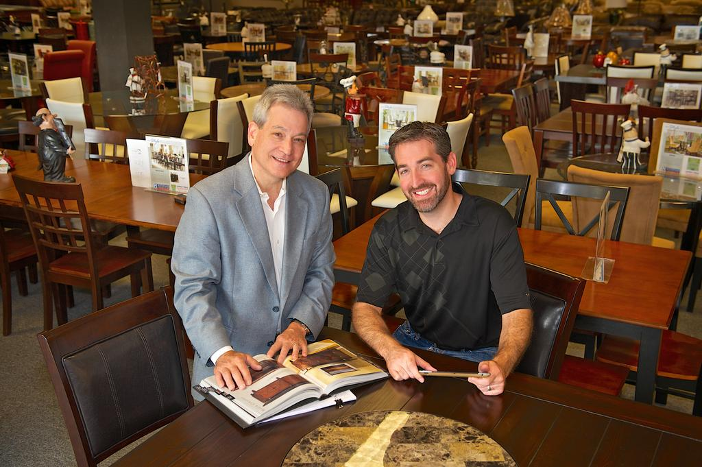 Jay Steinback (right) And Dale Steinback Of Rothman Furniture