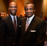 Terrence R. Moore College Park city manager and Michael Hightower managing partner of The Collaborative Firm, LLC.