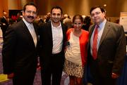 Helio Bernal with El Kar, Barbara Quiroga with Delta Airlines, Alejandro Coss of the Latin American Chamber of Commerce.