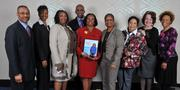 Minority Business Leader honoree Faye Coleman, center, president and CEO of Westover Consultants Inc., with her guests.