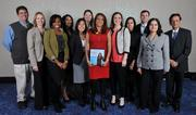 Minority Business Leader honoree Anita Samarth, center, president and co-founder of Clinovations, with her guests.