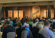 Roughly 300 business leaders attended the event at Portland's Governor Hotel.