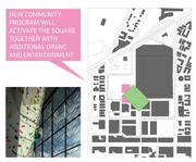 Portman CMC wants to create an entertainment district of 100,000 square feet that would be complimentary to Lincoln Road to the south. The portion in pink indicates where some of that district would be located. One possible scenario could involve knocking down the 17th Street garage and locating retail at street level.