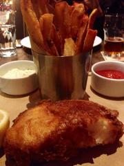 Executive Chef Damon Gordon's fish and chips