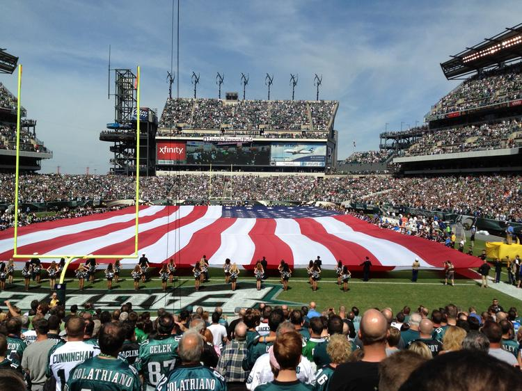 Some question whether crowds like this one from the Philadelphia Eagles home opener last month will dissipate in in the years ahead due to the harmful effects of concussions in football.