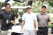 From left, Harris Nakamoto, director of labor accounts for Kaiser Permanente; Jeff Kalani, associate for Yogi Kwong Engineers and Ken Kawahara, president of Akineka & Associates at the American Resort Development Association of Hawaii's ninth annual Steve Hirano Memorial Classic Golf Tournament at the Mid Pacific Country Club. Proceeds benefit the Steve Hirano Memorial Scholarship Fund for outstanding travel industry management students at Hawaii Pacific University.