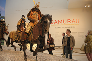 The display is the collection of the Ann and Gabriel Barbier-Mueller Museum of Dallas, Texas. This is its first showing on the West Coast.
