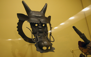 This 19th century horse mask is a rarity as it's completely made from iron. Most were made from leather.