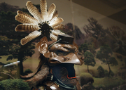This astonishing helmet is dates back to 1854. It represents the Tengu, a part-bird, part-human creature of lore.