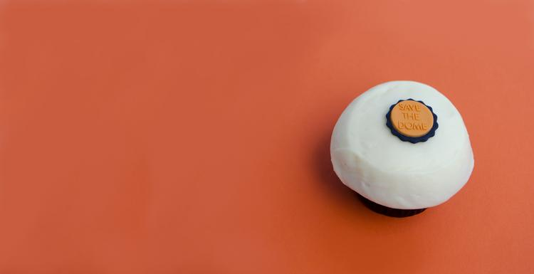 """Crave will offer """"Save the Dome"""" toppers on red velvet cupcakes through Oct. 24 at both Houston locations."""