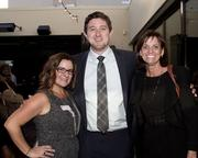Shannon Bleeker, Account Executive, Comcast; Ian Ambrose, Local Sales Manager, KQCA My58 and Cindi Starr, Account Executive, KQCA My58, are at the Alliance for Women in Media awards.