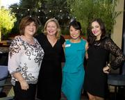Lisa Cooper, Corporate Underwriting, Capitol Public Radio; Teresa McManus, Account Executive, KCRA; Kristie Gong, Director of Research, KCRA/KQCA and Kasey Petritsch, Account Executive, Fox40, are at the Alliance for Women in Media awards.