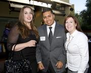 Emily Smith, Clear Channel Radio; Robert Mendoza, Digital Sales Manager, News10 and Karen Hoffman, Administrative Coordinator, Fox40, pose at the Alliance for Women in Media awards.