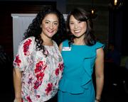 Camille Saussotte, National Sales Manager, KMAX 31 and Kristie Gong, Director of Research, KCRA/KQCA, are at the Alliance for Women in Media awards.