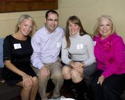 Tamara Berg, Meteorologist, KCRA; Aaron Slavik, Product Manager, Ecommerce; Jill Olsen, Promotions Manager, KQCA and Linda Metcalf, Account Executive, KCRA, are at the Alliance for Women in Media awards.