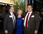 David Henley, Account Executive, KMAX 31; Ann Postell, Director of Sales, Fox40 and Juan Lopez, Account Executive KMAX 31, pose at the Alliance for Women in Media awards.